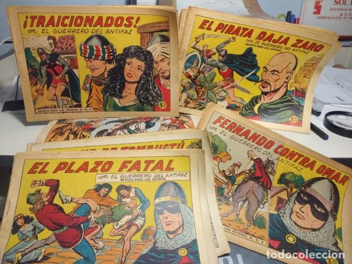 LOTE DE 30 EJEMPLARES DE EL GUERRERO DEL ANTIFAZ ( EPOCA 1´50 PTAS ) (Tebeos y Comics - Valenciana - Guerrero del Antifaz)