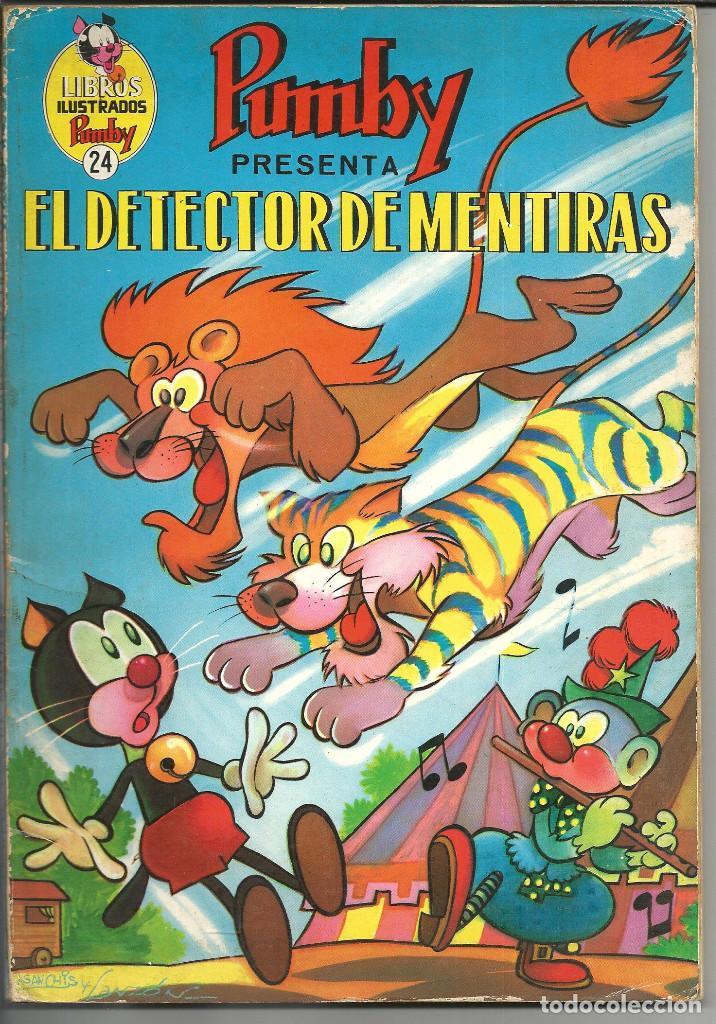 LIBROS ILUSTRADOS PUMBY Nº 24 - EL DETECTOR DE MENTIRAS - VALENCIANA 1970 (Tebeos y Comics - Valenciana - Pumby)