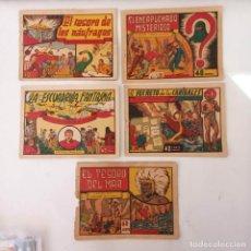 Tebeos: CARLOS RAY CORAZÓN DE ACERO - NºS 1,2,4,5,7,8 EDI. VALENCIANA 1943. Lote 234410225