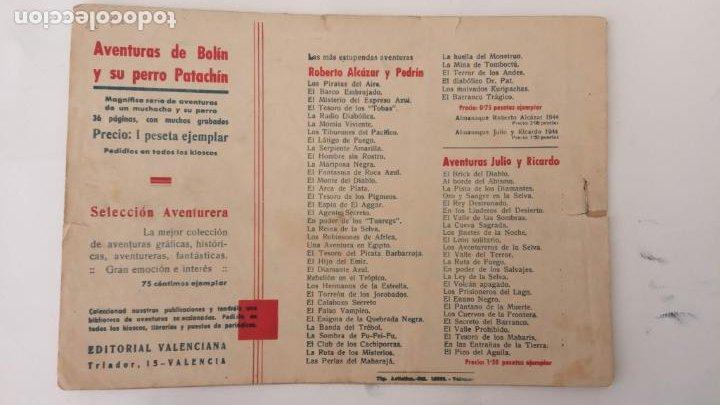 Tebeos: AVENTURAS DE JAIMITO Y PERIQUETE ORIGINAL Nº 13 Y ÚLTIMO - EDI. VALENCIANA 1943 - Foto 2 - 234490045