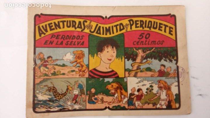 AVENTURAS DE JAIMITO Y PERIQUETE ORIGINAL Nº 13 Y ÚLTIMO - EDI. VALENCIANA 1943 (Tebeos y Comics - Valenciana - Jaimito)
