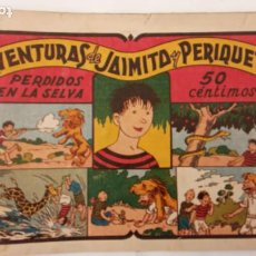 Tebeos: AVENTURAS DE JAIMITO Y PERIQUETE ORIGINAL Nº 13 Y ÚLTIMO - EDI. VALENCIANA 1943. Lote 234490045