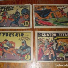 Tebeos: EL GUERRERO DEL ANTIFAZ - 4 EJEMPLARES DE 1 PTA.. Lote 234903360