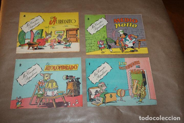 MIS CUENTOS POPULARES, COMPLETA 4 NÚMEROS, EDITORIAL VALENCIANA (Tebeos y Comics - Valenciana - Otros)