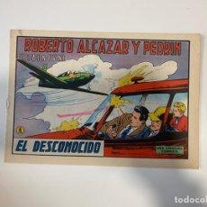 Tebeos: ROBERTO ALCAZAR Y PEDRIN. EL DESCONOCIDO - Nº 1124. EDIVAL. 1974. Lote 235271420