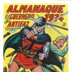 Tebeos: EL GUERRERO DEL ANTIFAZ, ALMANAQUE 1974, VALENCIANA, MUY BUEN ESTADO. CONTIENE POSTER. Lote 235404005