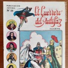 Tebeos: EL GUERRERO DEL ANTIFAZ Nº 19. 3ª ÉPOCA. VALENCIANA 1973. BUENO. Lote 235536090