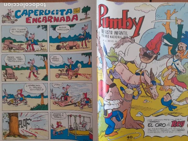 Tebeos: Pumby Nº 1105. Valenciana 1979. Bueno - Foto 2 - 235544495