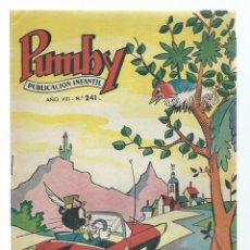 Tebeos: PUMBY 241, 1962, VALENCIANA, IMPECABLE. COLECCIÓN A.T.. Lote 235641585