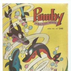 Tebeos: PUMBY 240, 1962, VALENCIANA, IMPECABLE. COLECCIÓN A.T.. Lote 235641835