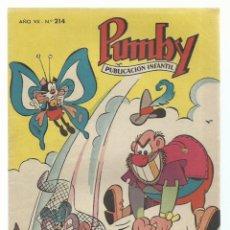 Tebeos: PUMBY 214, 1961, VALENCIANA, IMPECABLE. COLECCIÓN A.T.. Lote 235643410