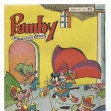 Tebeos: PUMBY 211, 1961, VALENCIANA, IMPECABLE. COLECCIÓN A.T.. Lote 235643600
