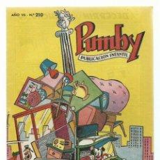 Tebeos: PUMBY 210, 1961, VALENCIANA, IMPECABLE. COLECCIÓN A.T.. Lote 235643785