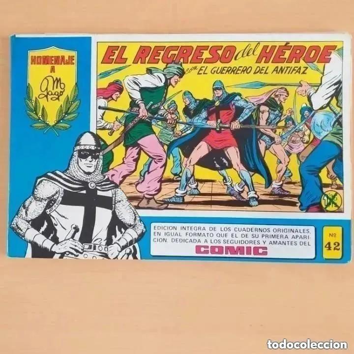 EL GUERRERO DEL ANTIFAZ - EL REGRESO DEL HEROE. NUM 42. HOMENAJE A MANUEL GAGO (Tebeos y Comics - Valenciana - Guerrero del Antifaz)
