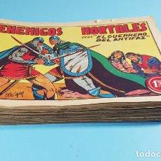 Tebeos: LOTE 28 NUMEROS DE EL GUERRERO DEL ANTIFAZ ORIGINALES, VER DESCRIPCION E IMAGENES. Lote 236506210