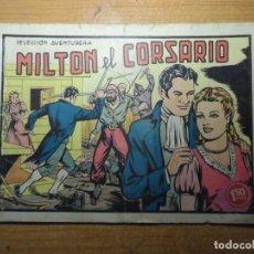 Tebeos: MILTON EL CORSARIO Nº 1 EDITORIAL VALENCIANA 1958 ORIGINAL. Lote 236792360