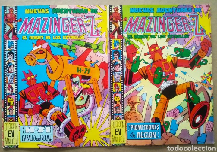 LOTE NUEVAS AVENTURAS DE MAZINGER-Z EL ROBOT DE LAS ESTRELLAS: NÚMEROS 20-22 (VALENCIANA). (Tebeos y Comics - Valenciana - Selección Aventurera)