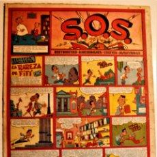 "Tebeos: S,O,S. DE EDITORIAL VALENCIANA 1951, NÚMERO 52, ORIGINAL "" LA RAREZA DE FIFI "". Lote 239539065"
