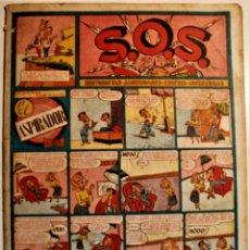"""Tebeos: S,O,S. DE EDITORIAL VALENCIANA 1951, NÚMERO 57, ORIGINAL """" EL ASPIRADOR """". Lote 239539730"""