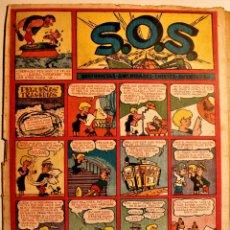 """Tebeos: S,O,S. DE EDITORIAL VALENCIANA 1951, NÚMERO 65, ORIGINAL """" PEQUEÑAS TRAGEDIAS """". Lote 239540445"""