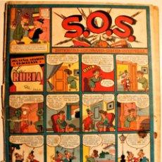 """Tebeos: S,O,S. DE EDITORIAL VALENCIANA 1951, NÚMERO 49, ORIGINAL """" LA RUBIA """". Lote 239540730"""