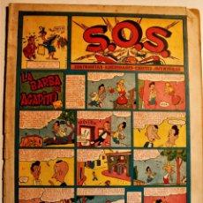 """Tebeos: S,O,S. DE EDITORIAL VALENCIANA 1951, NÚMERO 59, ORIGINAL """" LA BARRA DE AGAPITO """". Lote 239542825"""