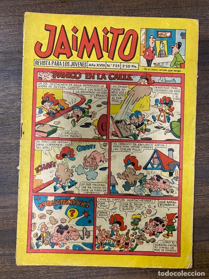 JAIMITO. REVISTA PARA LOS JOVENES. AÑO XVIII. Nº 735. EDITORA VALENCIANA (Tebeos y Comics - Valenciana - Jaimito)