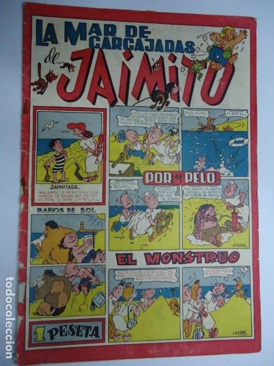 LA MAR DE CARCAJADAS DE JAIMITO EDITA VALENCIANA 1947 MIDE 17 X 24 CM. (Tebeos y Comics - Valenciana - Jaimito)
