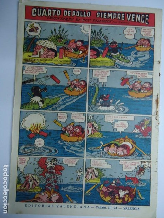 Tebeos: LA MAR DE CARCAJADAS DE JAIMITO EDITA VALENCIANA 1947 MIDE 17 X 24 cm. - Foto 4 - 239587715