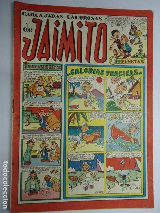 CARCAJADAS CALUROSAS DE JAIMITO EDITA VALENCIANA 1947 MIDE 17 X 24 CM. (Tebeos y Comics - Valenciana - Jaimito)