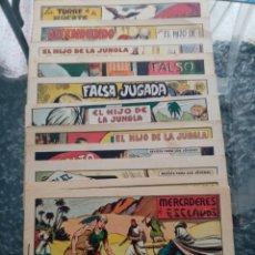 Tebeos: LOTE DE 12 ORIGINALES DE EL HIJO DE LA JUNGLA. Lote 239590575