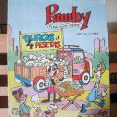Tebeos: PUMBY Nº 184 ORIGINAL 2,50 PESETAS. Lote 241395420