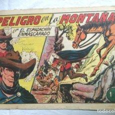 Tebeos: EL ESPADACHIN ENMASCARADO Nº 178 PELIGRO EN LA MONTAÑA DE GAGO, EDITORIAL VALENCIANA ORIGINAL. Lote 241627480