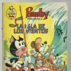 Tebeos: LIBROS ILUSTRADOS PUMBY 45: LA ISLA DE LOS VIENTOS, 1972, VALENCIANA. Lote 242985385