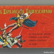 Tebeos: EL ESPADACHÍN ENMASCARADO TOMO Nº 5 EDITORIAL VALENCIANA. Lote 243341185