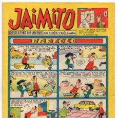 Tebeos: JAIMITO Nº 720 (VALENCIANA 1963). Lote 243528340