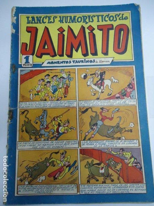 LANCES HUMORISTICOS DE JAIMITO Nº 22 - MOMENTOS TAURINOS - ED. VALENCIANA - 1947 EJEMPLAR ORIGINAL (Tebeos y Comics - Valenciana - Jaimito)