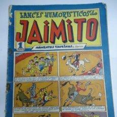 Tebeos: LANCES HUMORISTICOS DE JAIMITO Nº 22 - MOMENTOS TAURINOS - ED. VALENCIANA - 1947 EJEMPLAR ORIGINAL. Lote 243823845