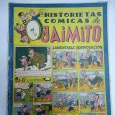 Tebeos: HISTORIETAS COMICAS DE JAIMITO. LAMENTABLE EQUIVOCACION. EDITORIAL VALENCIANA 1947 EJEMPLAR ORIGINA. Lote 243824690