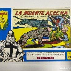Tebeos: EL GUERRERO DEL ANTIFAZ. Nº 87 - LA MUERTE ACECHA. EDITORA VALENCIANA.. Lote 244494585