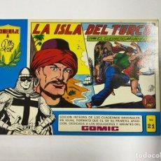 Tebeos: EL GUERRERO DEL ANTIFAZ. Nº 21 - LA ISLA DEL TURCO. EDITORA VALENCIANA.. Lote 244495245