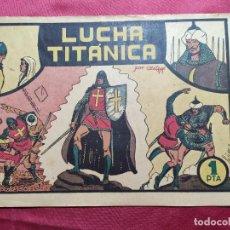 Giornalini: EL GUERRERO DEL ANTIFAZ . Nº 3. LUCHA TITANICA . VALENCIANA . ORIGINAL. Lote 244620535