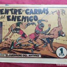 Tebeos: ENTRE LAS GARRAS CON EL GUERRERO DEL ANTIFAZ . Nº 11. VALENCIANA . ORIGINAL. Lote 244721715