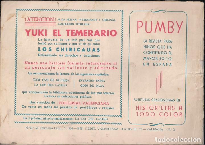 Tebeos: YUKI EL TEMERARIO Nº 2: TAM-TAM DE GUERRA - Foto 2 - 244872455
