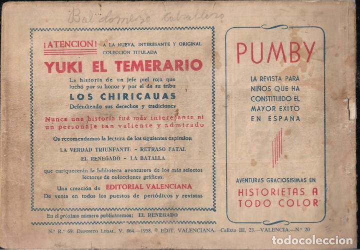 Tebeos: YUKI EL TEMERARIO Nº 20: LA VERDAD TRIUNFANTE - Foto 2 - 244877030
