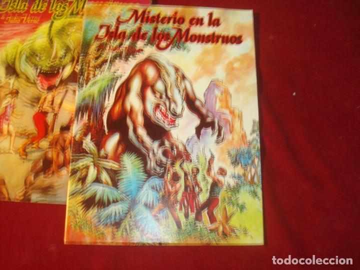 Tebeos: misterio en la isla de los monstruos julio verne 2 comic completa editorial valenciana 1981 - Foto 2 - 244957040