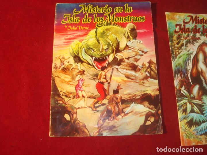 Tebeos: misterio en la isla de los monstruos julio verne 2 comic completa editorial valenciana 1981 - Foto 3 - 244957040