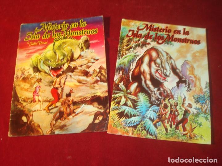 MISTERIO EN LA ISLA DE LOS MONSTRUOS JULIO VERNE 2 COMIC COMPLETA EDITORIAL VALENCIANA 1981 (Tebeos y Comics - Valenciana - Otros)