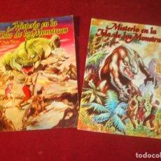 Tebeos: MISTERIO EN LA ISLA DE LOS MONSTRUOS JULIO VERNE 2 COMIC COMPLETA EDITORIAL VALENCIANA 1981. Lote 244957040