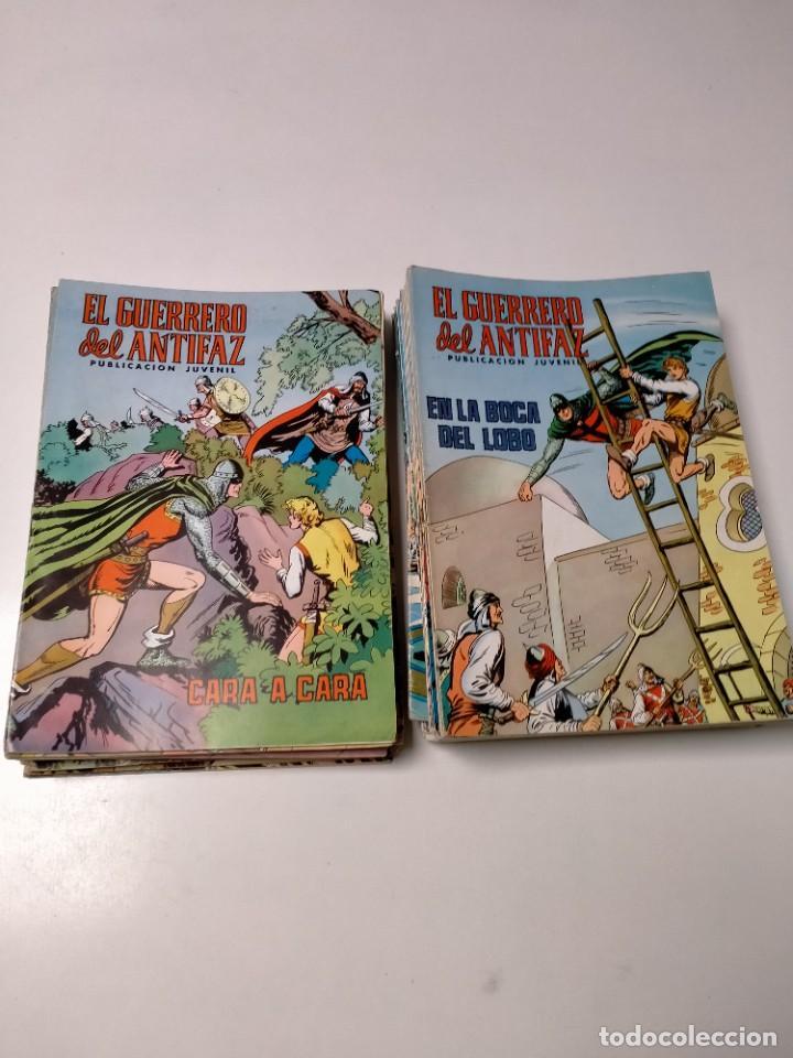 LOTE DE 53 CÓMICS EL GUERRERO DEL ANTIFAZ EDIVAL (Tebeos y Comics - Valenciana - Guerrero del Antifaz)